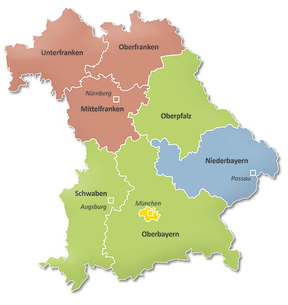 Mittelfranken Karte.Migranet Iq Landesnetzwerk Bayern Qualifizierungsberatung