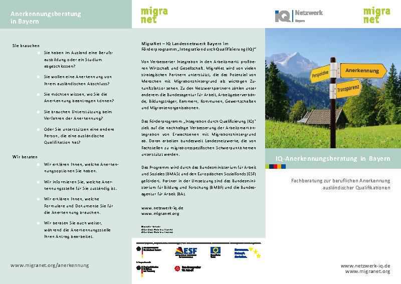 Flyer Anerkennungsberatung Bayern